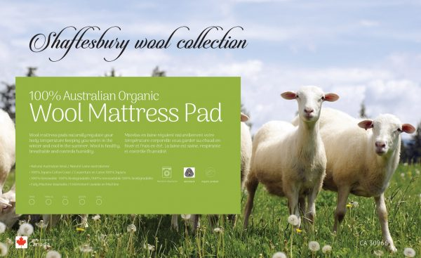 Shaftesbury Wool Mattress Pad | Majestic Mattress - Your Mattress Store & Bedroom Furniture Outlet